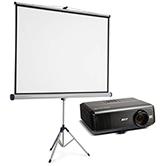 zestaw do prezentacji, zestaw na wynajem, wynajem zestawu ekran z projektorem